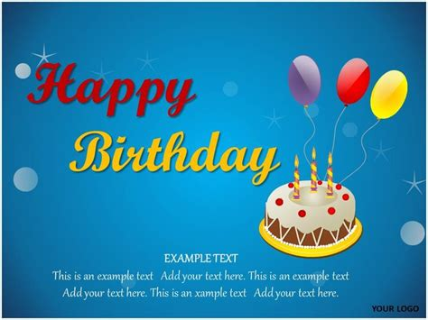 Happy Birthday Theme Animated Presentation Pinterest Happy Birthday Powerpoint Presentation