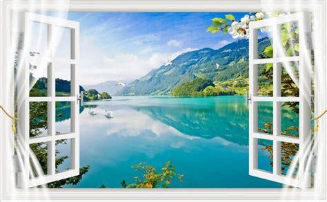 landscape wallpaper murals scenery window  mural