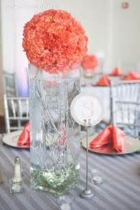 coral wedding centerpieces coral wedding centerpiece with curly