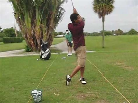 golf swing face on s t golf swing 6i face on youtube