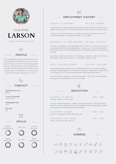 Professional Curriculum Vitae by 13 Slick And Highly Professional Cv Templates Guru
