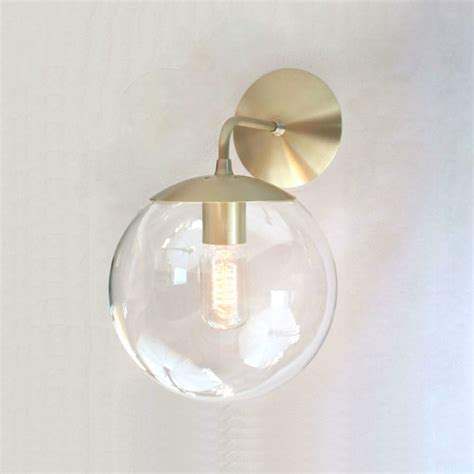 Contemporary Wall Sconces Mid Century Modern Wall Sconce Light 8 Clear Glass Globe