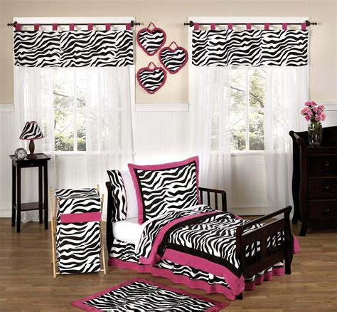 pink zebra print bedding hot pink white black zebra print toddler girl comforter bedding 5pc bed in a bag set