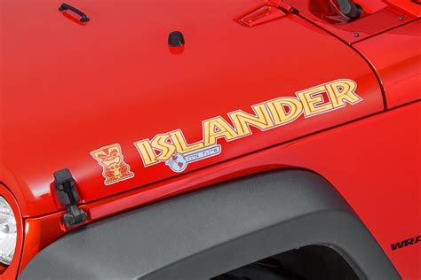 jeep islander decal mopar 174 68084123aa quot islander quot hood decal for jeep 174 vehicles