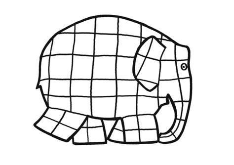 Elmer The Elephant Template by Elmer Elephant Coloring Pages