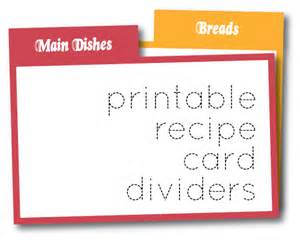 Recipe Index Template by Olive Print Recipe Card Dividers