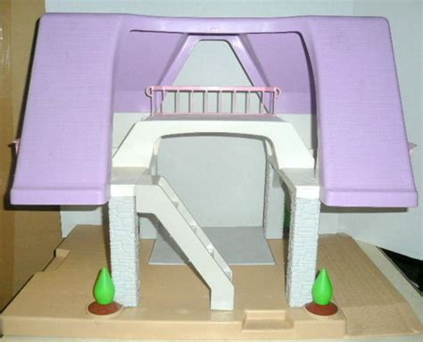 tikes pink dollhouse blue roof vintage tikes blue roof dollhouse with accessories