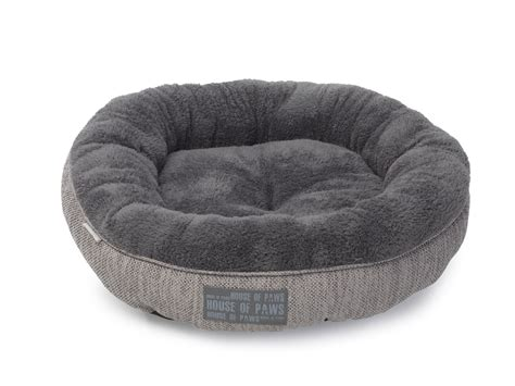 kitten beds grey hessian donut cat bed by house of paws chelsea cats