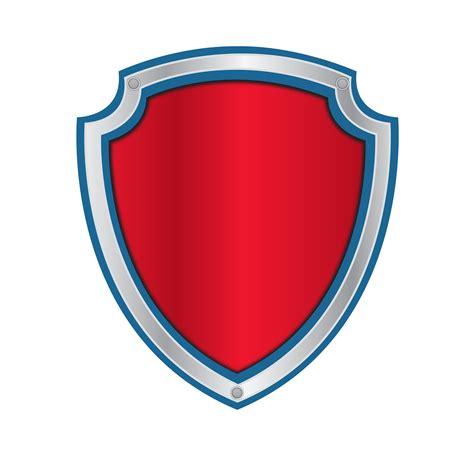 Paw Patrol Logo Blank Png Paw Patrol Shield Template