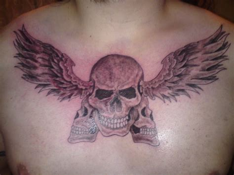 tattoo angel wings chest angel wings skull tattoo on chest real photo pictures