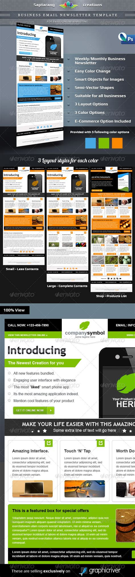 Business Email Newsletter Template By Saptarang Graphicriver Custom Email Marketing Templates