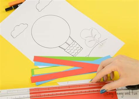 How To Make A Out Of Paper Strips - air balloon paper craft easy peasy and