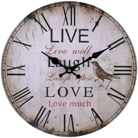 shabby chic love wall clock beautiful shabby chic