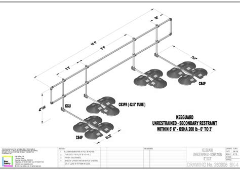 Key Clamp Handrails Keeguard Technical Specifications 3 Part Specification
