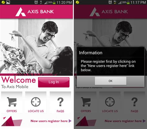 axis bank net banking app axis bank mobile banking app for android review problems