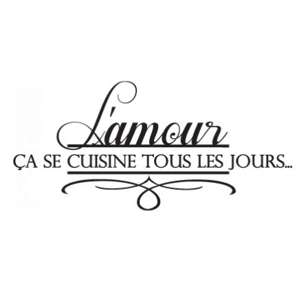 stickers amour en cuisine stickers malin