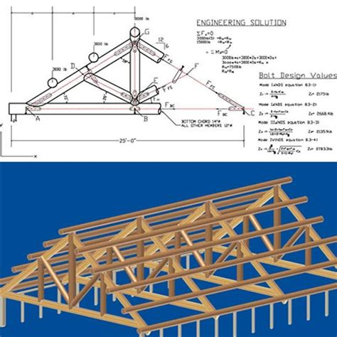 build mission style headboard wood roof truss plans