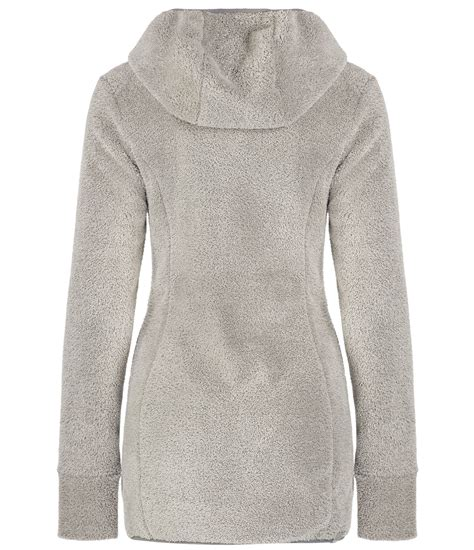 bench fleece hoodie bench softock long length fleece hoodie in gray cream lyst