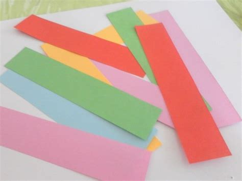 Paper Strips Craft - coloured craft paper cut into strips and ready for