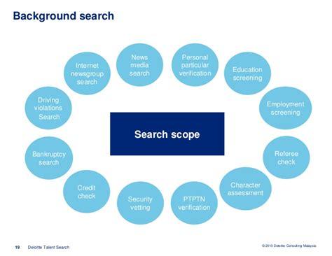 Deloitte Background Check About Deloitte Talent Search
