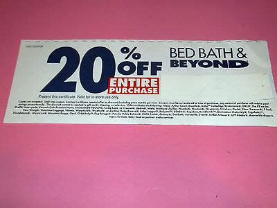 Bed Bath Beyond 20 Entire Purchase by Bed Bath Beyond 20 Entire Purchase Coupon 8 26 2013