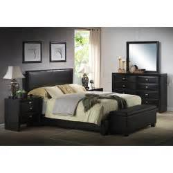 ireland faux leather bed black walmart
