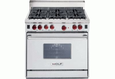 wolf gourmet as30ki 1 stainless wolf gourmet 36 quot free standing gas range stainless steel finish r366 abt