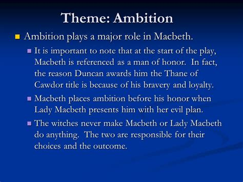 Macbeth Themes Of Ambition | macbeth themes and motifs ppt video online download