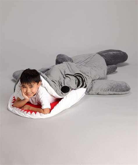 shark sleeping bag dark blue chumbuddy sleeping bag