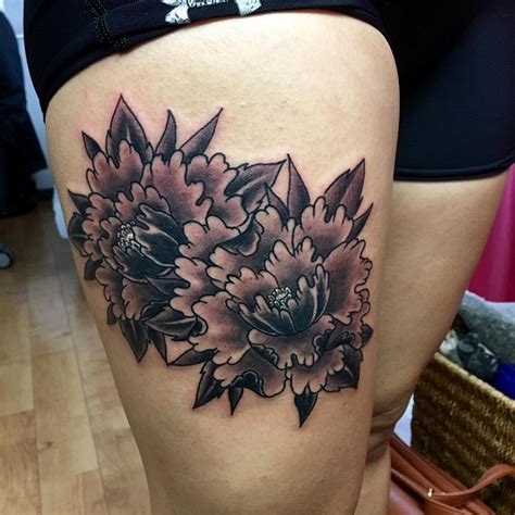 japanese peony tattoo black and grey peony tattoos designs ideas and meaning tattoos for you