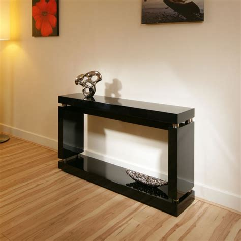 Black Gloss Console Table Console Table In High Gloss Glossy Black Lacquer Finish 397x Quatropi