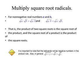 square root of 289 simplifying radicals ppt download