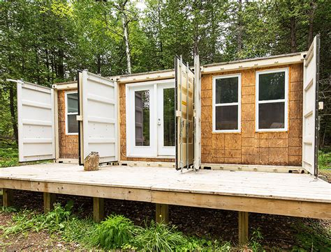 shipping container homes green off the grid shipping a canadian man built this off grid shipping container home