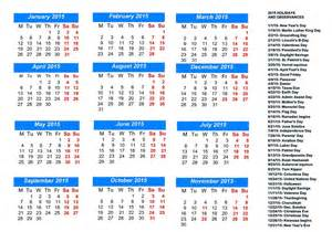 2015 Monthly Calendar With Holidays 2015 Monthly Calendar With Holidays Calendar Picture