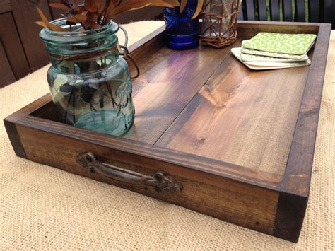 rustic ottoman tray wooden tray rustic wooden tray wooden ottoman tray ottoman