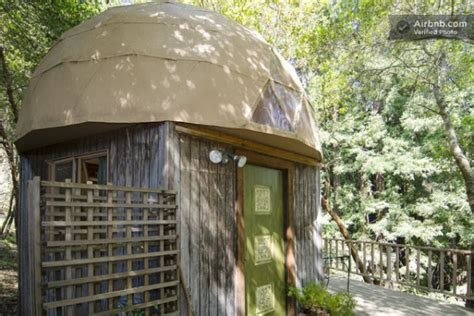 stay in the mushroom dome tiny house in aptos california your own mushroom dome micro cabin in the redwoods tiny