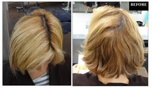 before and after photos hair color to light