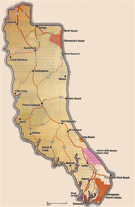 maryland map calvert county calvert county
