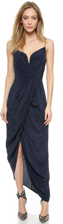 zimmermann asymmetric drape dress zimmermann silk plunge drape long dress shopstyle cocktail