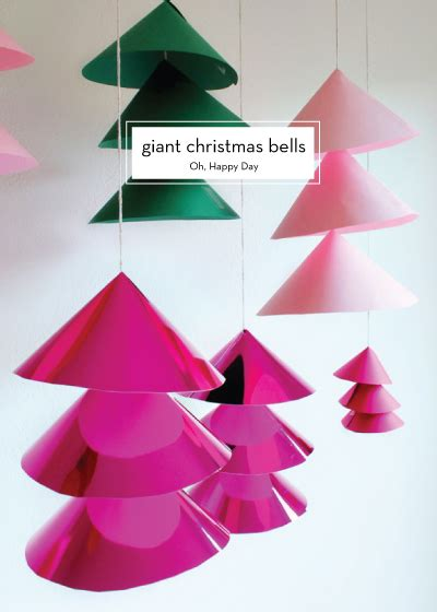 diy giant christmas bells diy decor design crush