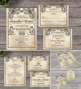 vintage wedding invitation style free
