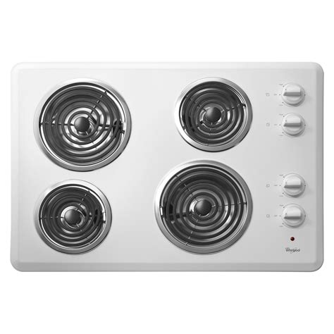 Whirlpool Electric Range Knobs by Whirlpool Wcc31430aw 30 Quot Electric Cooktop With
