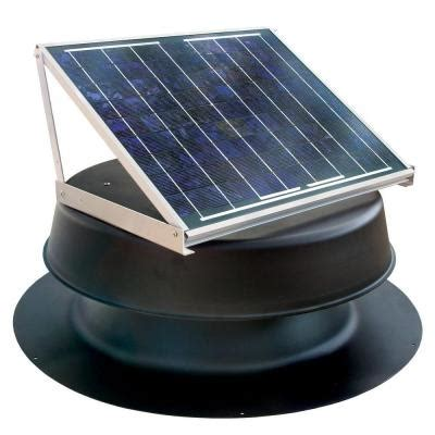 20 watt solar powered attic fan safb20 ss the home depot