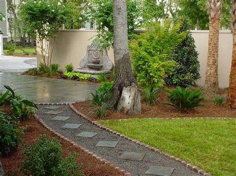 Backyard Stepping Ideas by Stepping Stones Set In Gravel Paths And Walkways