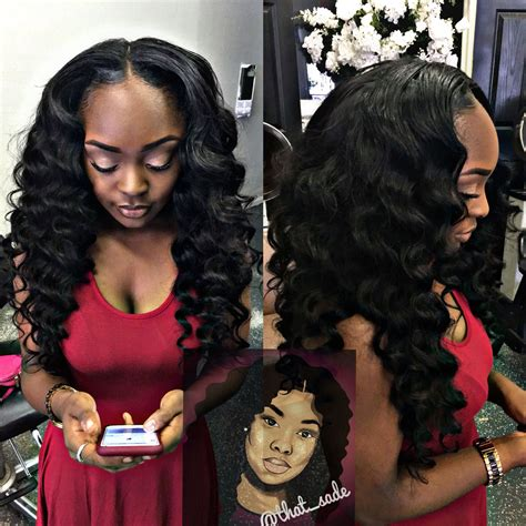 barrel curl weave hair loose wand curls pull up wig weaves on fleek