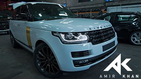 Amir Khan Getting My Range Rover Wrapped