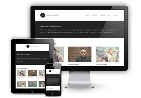 layout wordpress mobile modern portfolio a new responsive theme focused on