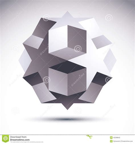 3d Geometric Origami - abstract 3d origami polygonal object vector geometric