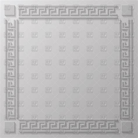 greek pattern frame square frame with classic greek pattern borders and