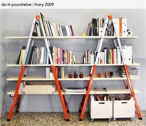 Diy Ladder Bookcase Make A Creative And Unique Bookshelf By Your Own